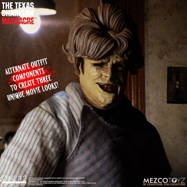 Leatherface Brings the Pain with New One: 12 Figure from Mezco Toyz