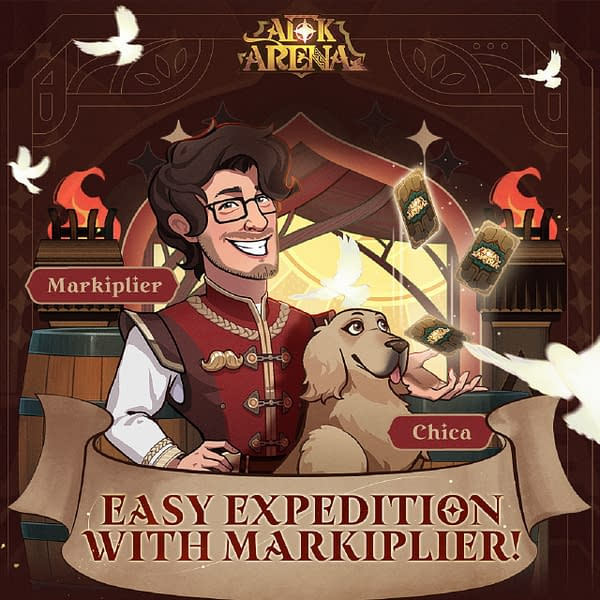 Markiplier and Chica are on the job! Courtesy of Lilith Games.