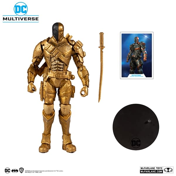Batman and Deathstroke Go Bronze With McFarlane Toys