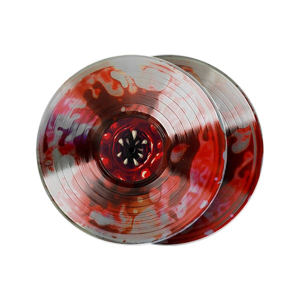 A look at the blood-filled vinyl, courtesy of Materia Collective