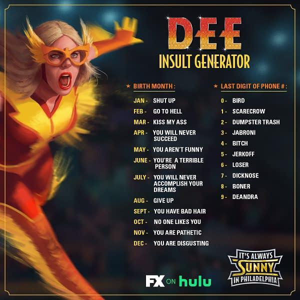 """It's Always Sunny in Philadelphia celebrates """"Dee Week"""" (Image: FX Networks)"""