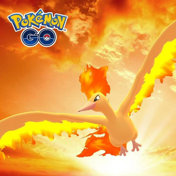 Moltres promotional image. Credit: Niantic