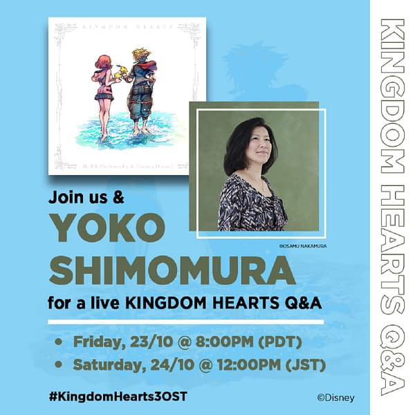 Got any burning questions for Yoko Shimomura about Kingdom Hearts? Courtesy of Square Enix.