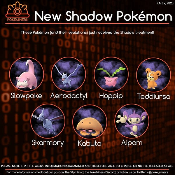New Shadow models found in a Pokémon GO update. Credit: PokeMiners