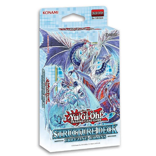 Box art for Yu-Gi-Oh! TCG's Structure Deck: Freezing Chains, courtesy of Konami.