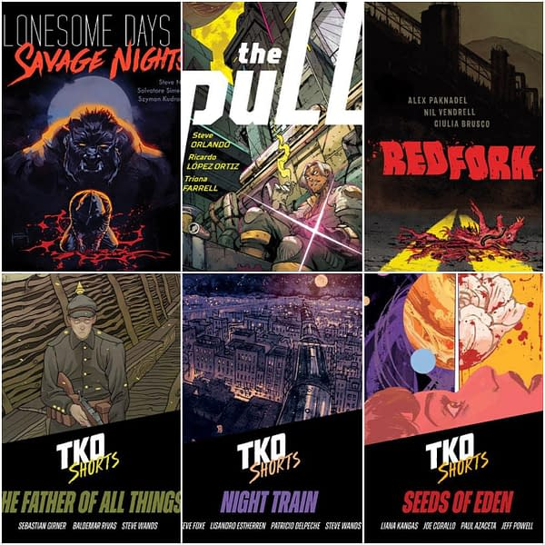 TKO's New Comics For Novembe
