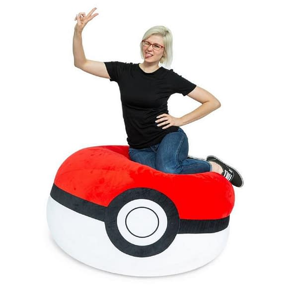 Gamestop is offering a deal on this Pokémon Pokéball bean bag chair, for an example of home décor on sale this Cyber Week.