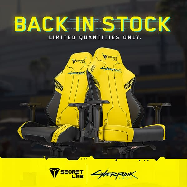 A look at the Cyberpunk 2077 chairs from #Secretlab.