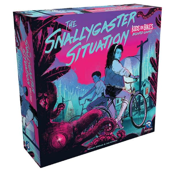 A look at the box for The Snallygaster Situation, courtesy of Renegade Game Studios.