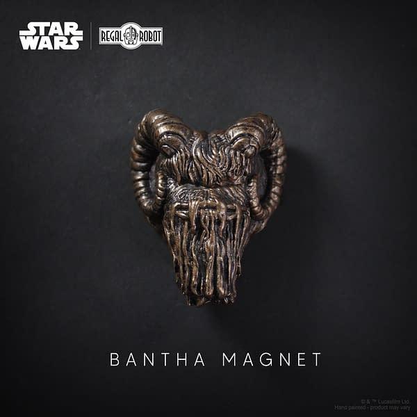Regal Robot Announces Bantha Magnetic Sculpture from The Mandalorian