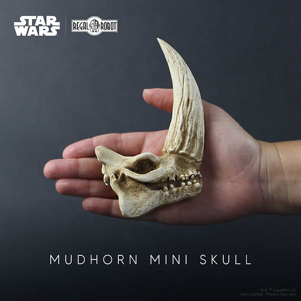 The Mandalorian Mudhorn Skull Goes Mini with Regal Robot