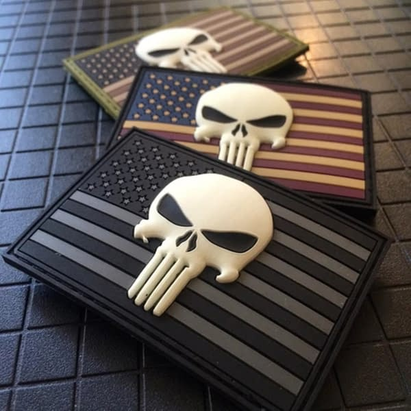Punisher Skull Spotted Multiple Times On Both Rioters And Police