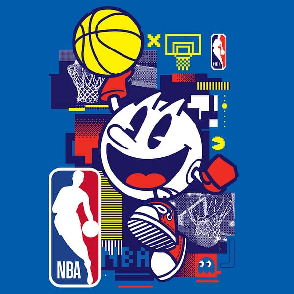 Its not every day you see an iconic '80s video game character playing basketball! Courtesy of Bandai Namco.