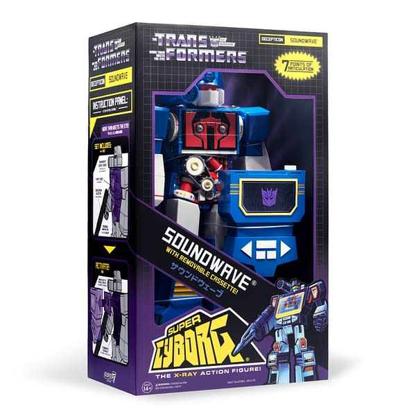 Transformers Soundwave Joins Super 7 with New Super Cyborg Figure