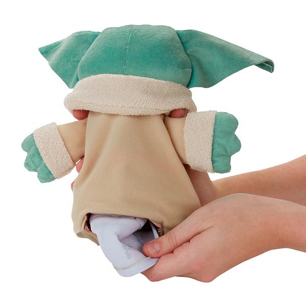 The Mandalorian Grogu Gets Hideaway Hover-Pram Plush from Hasbro