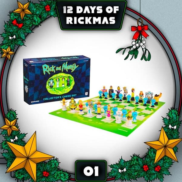 "Rick and Morty and Adult Swim are kicking off the ""12 Days of Rickmas"" (Image: Adult Swim)"