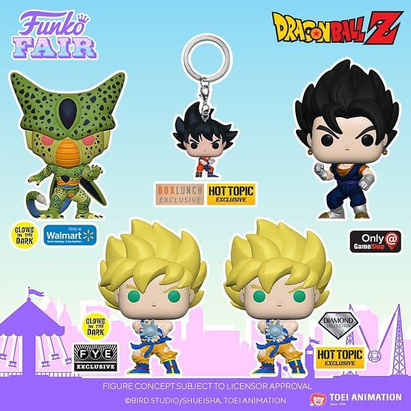 New Dragon Ball Z Funko Pops Debut at Funko Fair Day 2