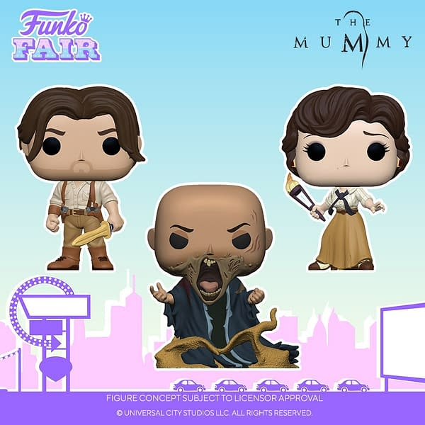 The Mummy Rises As New Pop Vinyls Debut a Funko Fair