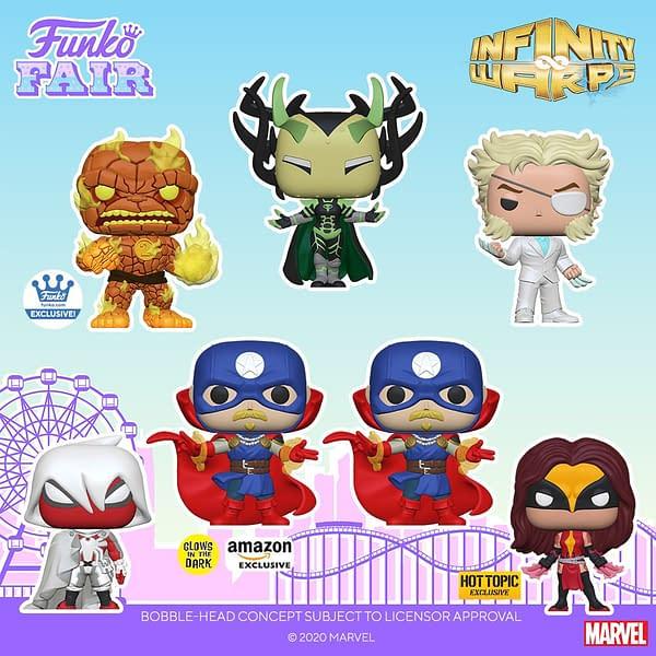 Funko Unveils Marvel Infinity Warps Pop Vinyls at Funko Fair