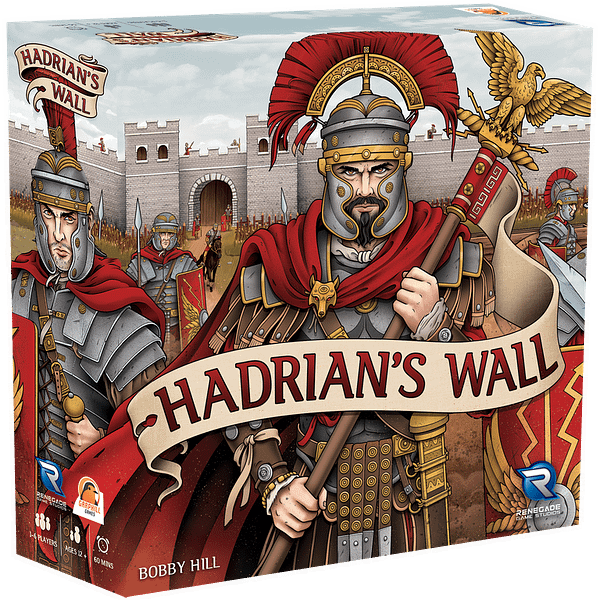 A look at the cover art for Hadrian's Wall, courtesy of Renegade Game Studios.