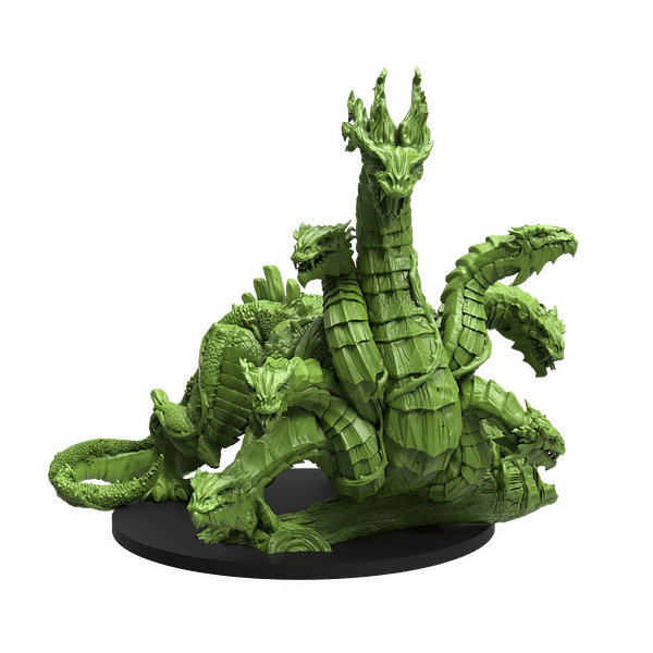 The Hydra miniature from Epic Encounters' magnificent Swamp of the Hydra boxed set by Steamforged.