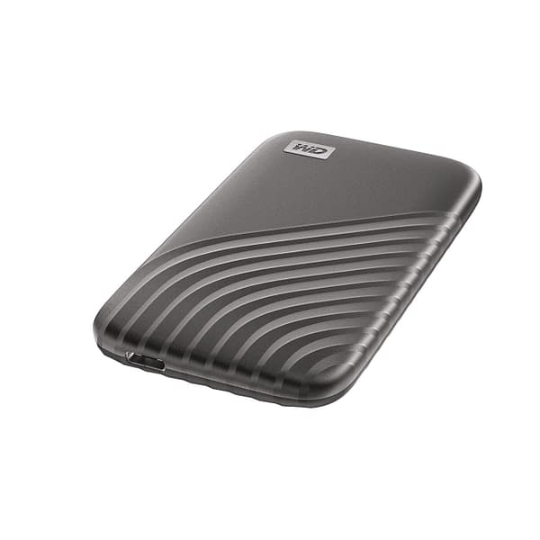 A look at the 4TB My Passport SSD in steel gray. Courtesy of Western Digital.