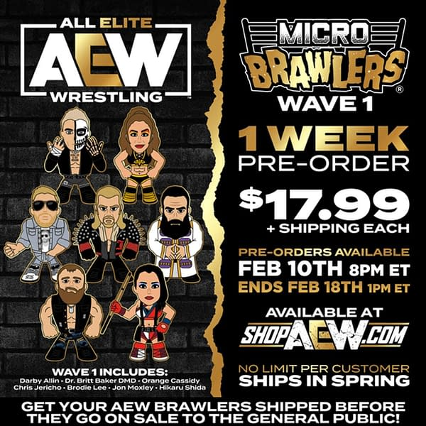 AEW Micro Brawlers Wave 1 Is Up For Order For One Week Only