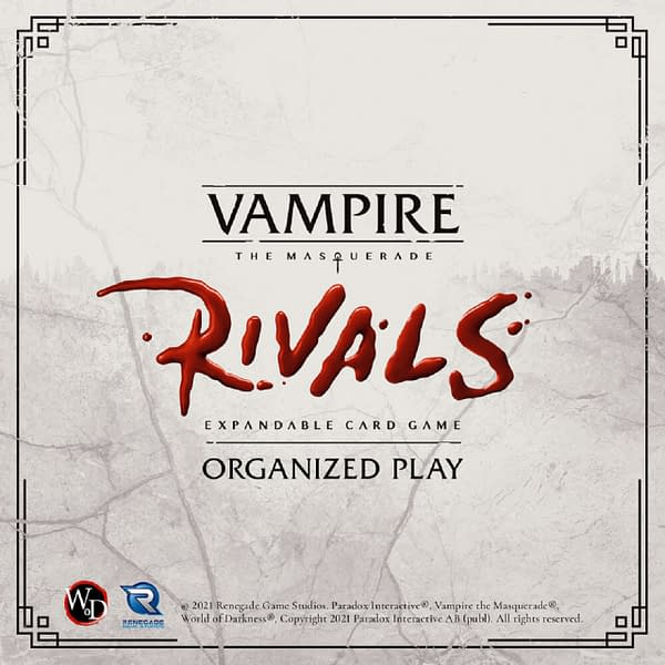 Vampire: The Masquerade Rivals will start competitions in late 2021. Courtesy of Renegade Game Studios.