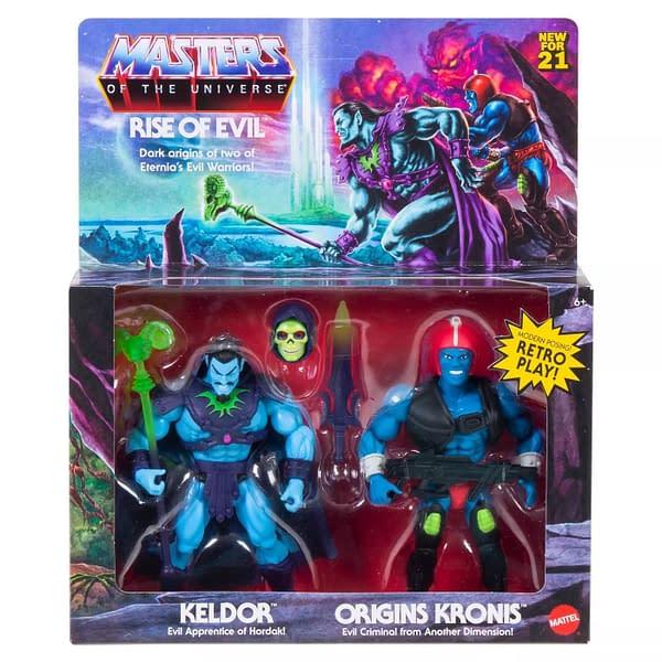 Masters of the Universe Mattel Keldor and Kronis Rise of Evil 2-Pack Coming