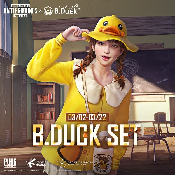 A look at the special B.Duck set of cosmetics you can get in the game. Courtesy of Tencent Games.