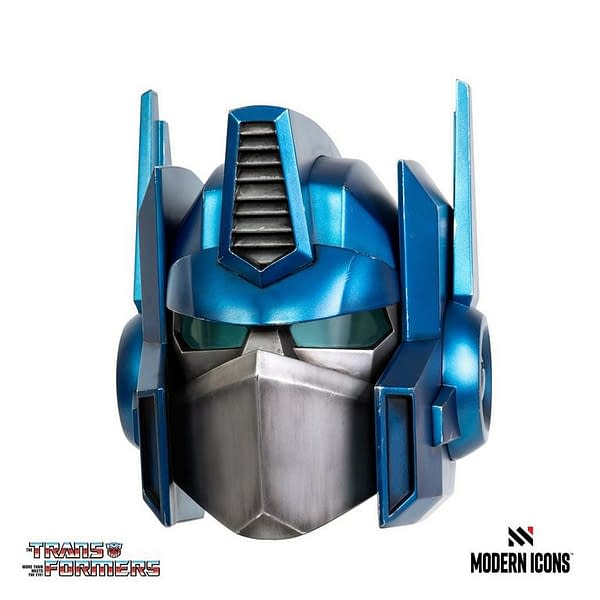Transformers Optimus Prime Helmet Coming From Hasbro and Modern Icons