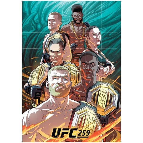 UFC 259 Artist Series Poster Is Here, Now Up For Order