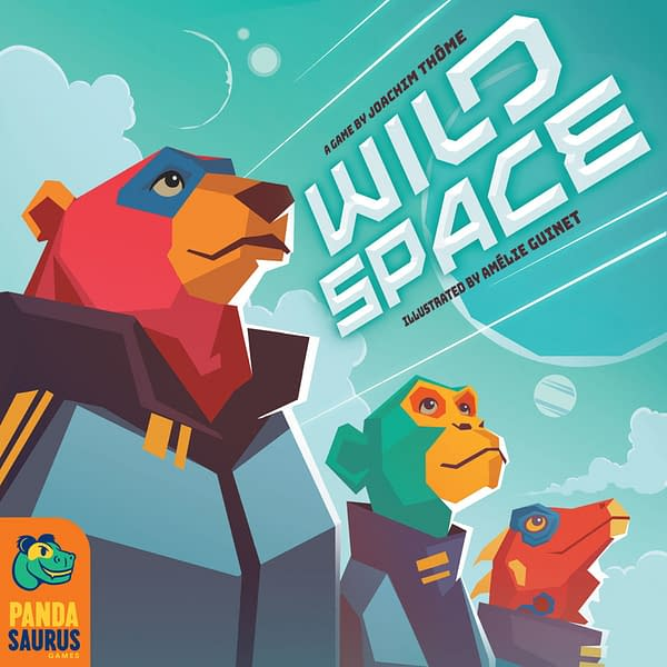 The box cover for the English version of Wild Space, another game by Catch Up Games and localized by Pandasaurus Games. Wild Space will also release in September 2021.