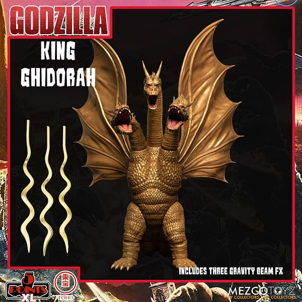 King Ghidorah Prepares For War With Godzilla Box Set 2 From Mezco