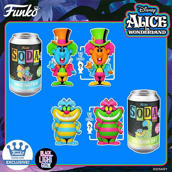 Alice In Wonderland Gets Trippy With New Black Light Funko Pops