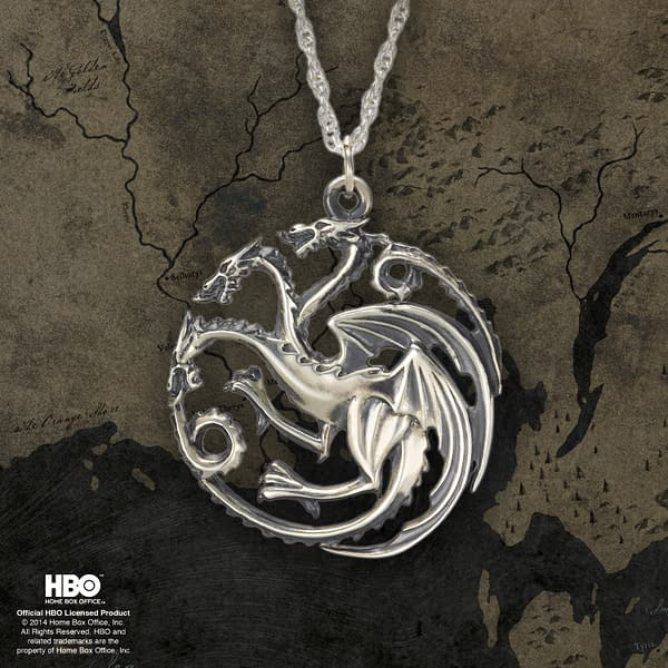 A look at the Targaryen House Necklace, courtesy of HBO.