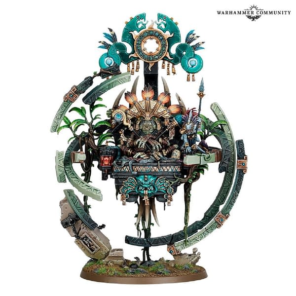 Lord Kroak, a Seraphon Starmaster and, allegedly, one of the mightiest casters in the game. Photo credit: Games Workshop's news hub, Warhammer Community