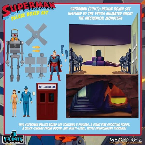 Superman Goes Retro With New Mezco Toyz 5 Points Boxed Set