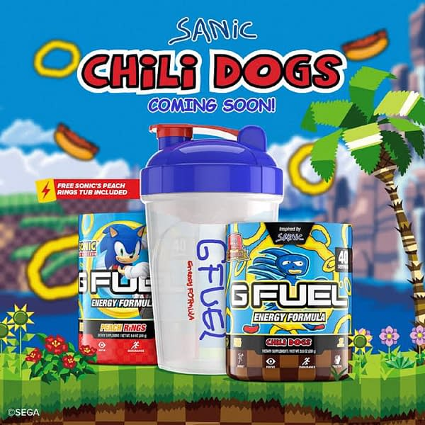 Drink this and you can run up 12 times the speed of light! Courtesy of G Fuel.