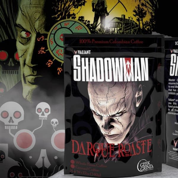 Like the new Shadowman series by Cullen Bunn and Jon Davis Hunt, this Darque Roaste coffee will pair well with milky white cream and sugar.