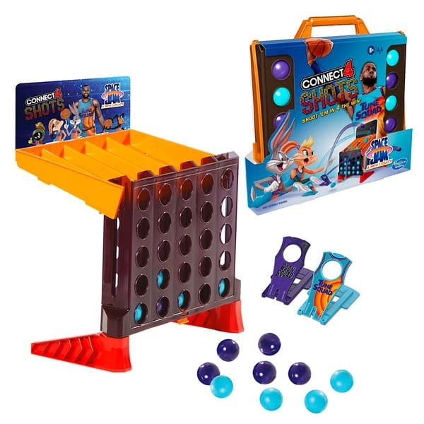A preview of Connect 4 Shots: Space Jam A New Legacy Edition, courtesy of Hasbro.