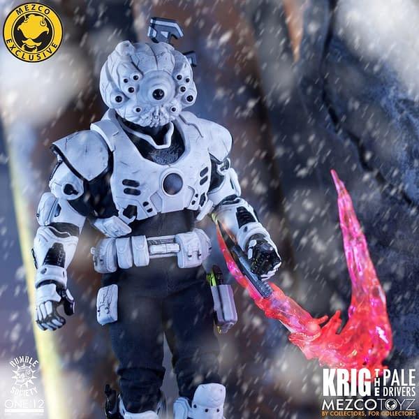Mezco Toyz Deploys the Pale Driver Krig One:12 Collective Figure