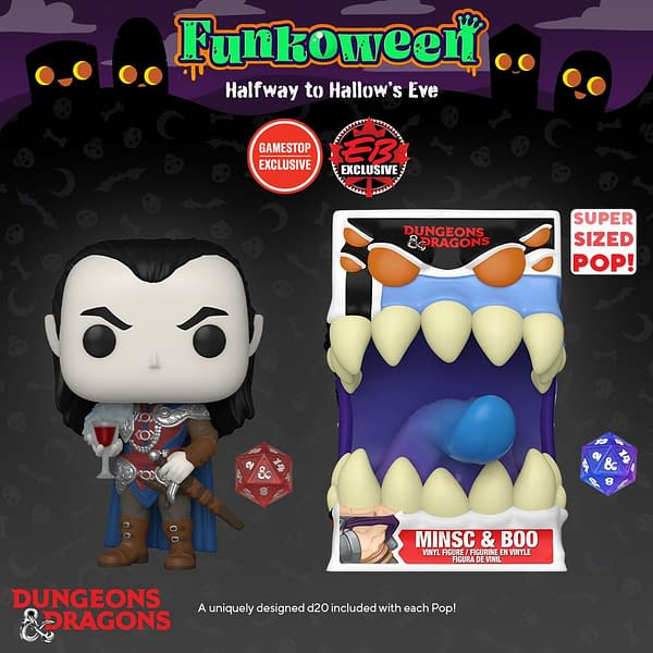 Dungeons & Dragons Count Zarovich and Mimic Funko Pops Revealed