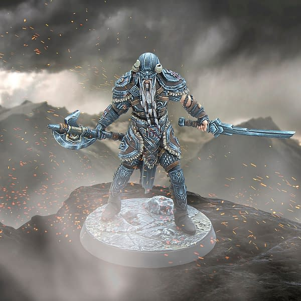 The Nord, a resin miniature from Modiphus Entertainment's The Elder Scrolls Online Cinematic Heroes line of minis.
