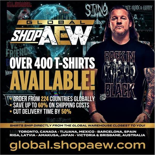 AEW atgriežas kā kreklu uzņēmums ar jaunu globālu tiešsaistes preču veikalu.