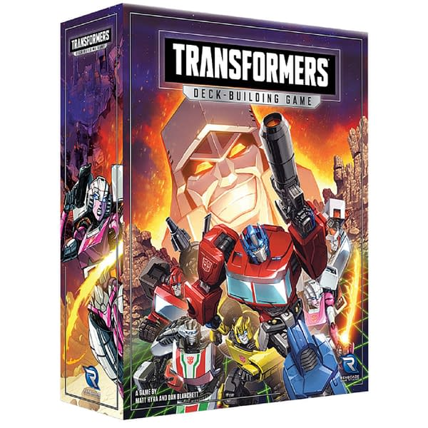 A look at the box art for Transformers Deck-Building Game, courtesy of Renegade Game Studios.