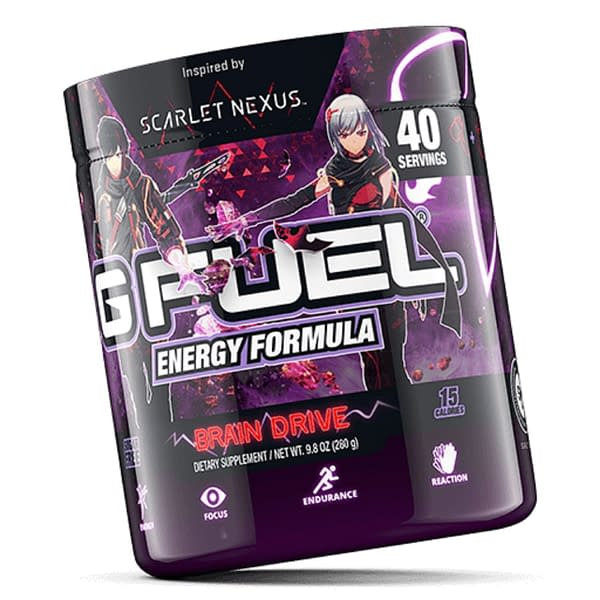 A look at the packaging for Brain Drive, courtesy of G Fuel.