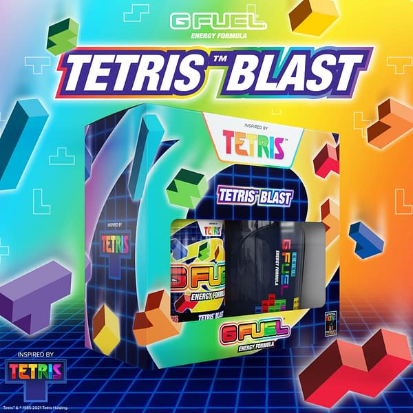A look at the Collector's Box for Tetris Blast, courtesy of G Fuel.