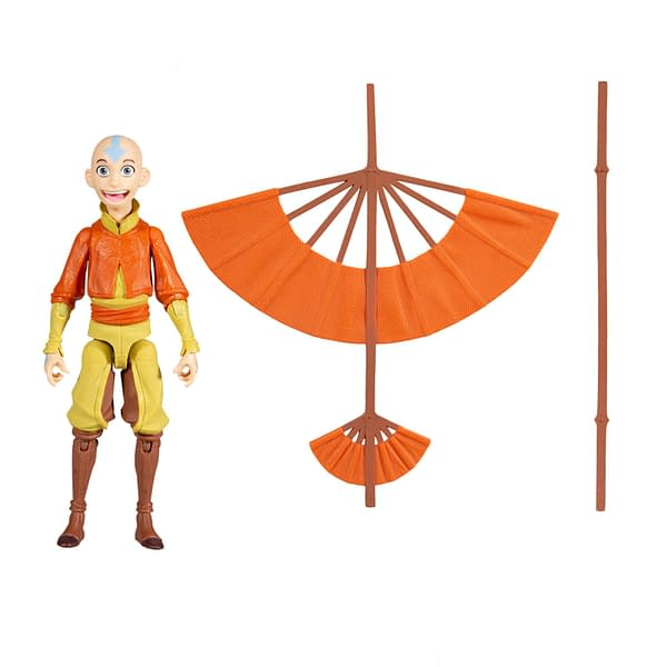 Avatar: The Last Airbender Aang With Glider Comic From McFarlane Toys