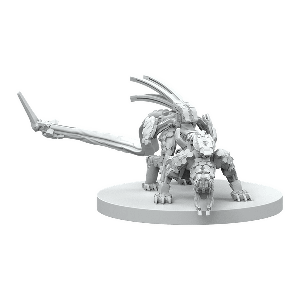 Steamforged Games' render of a Stalker, another one of the machine creatures seen in Horizon Zero Dawn: The Board Game.